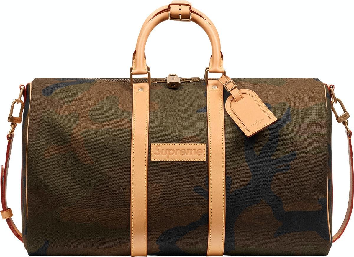 Louis Vuitton x Supreme Keepall Bandouliere Monogram Camo 45 Camo