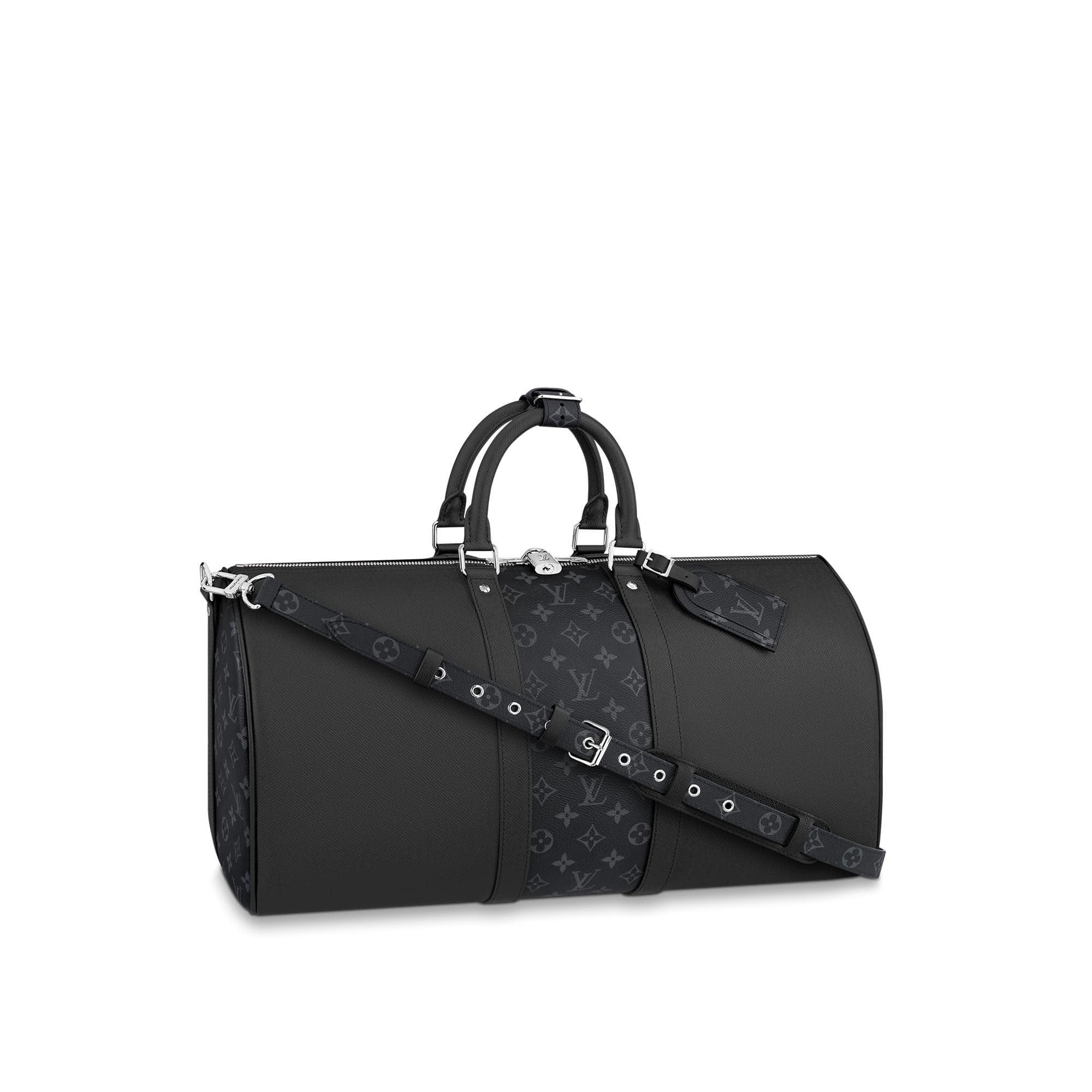 Louis Vuitton Keepall Bandouliere Monogram Eclipse 50 Black