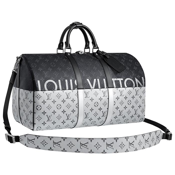 Louis Vuitton Keepall Bandouliere Monogram Eclipse Split Outdoor 45 Grey/Black
