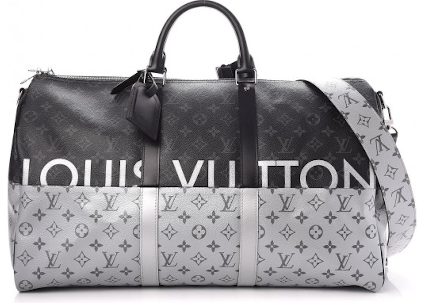 Louis Vuitton Keepall Bandouliere Monogram Eclipse Split With ... 6f41bd9f55971