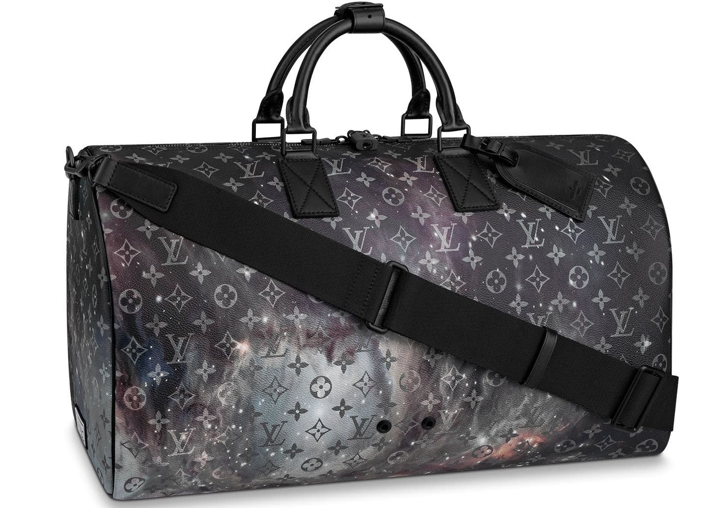 Louis Vuitton Keepall Bandouliere Monogram Galaxy 50 Black Multicolor