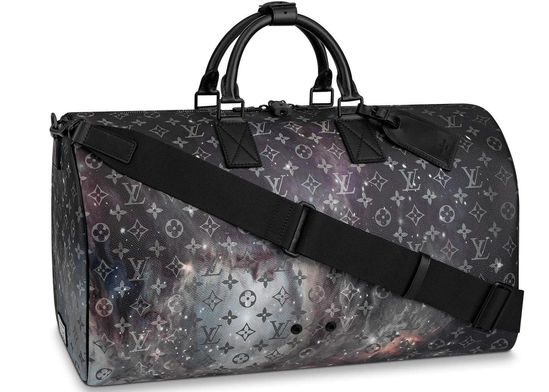 Louis Vuitton Keepall Bandouliere Monogram Galaxy 50 Black Multicolor