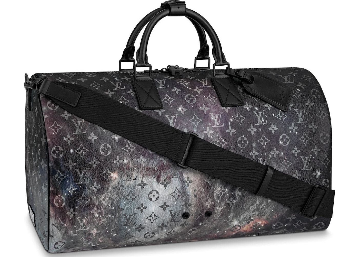 Louis Vuitton Keepall Bandouliere Monogram Galaxy 50 Black Multicolor.  Monogram Galaxy 50 Black Multicolor 5e28cb9c329f8