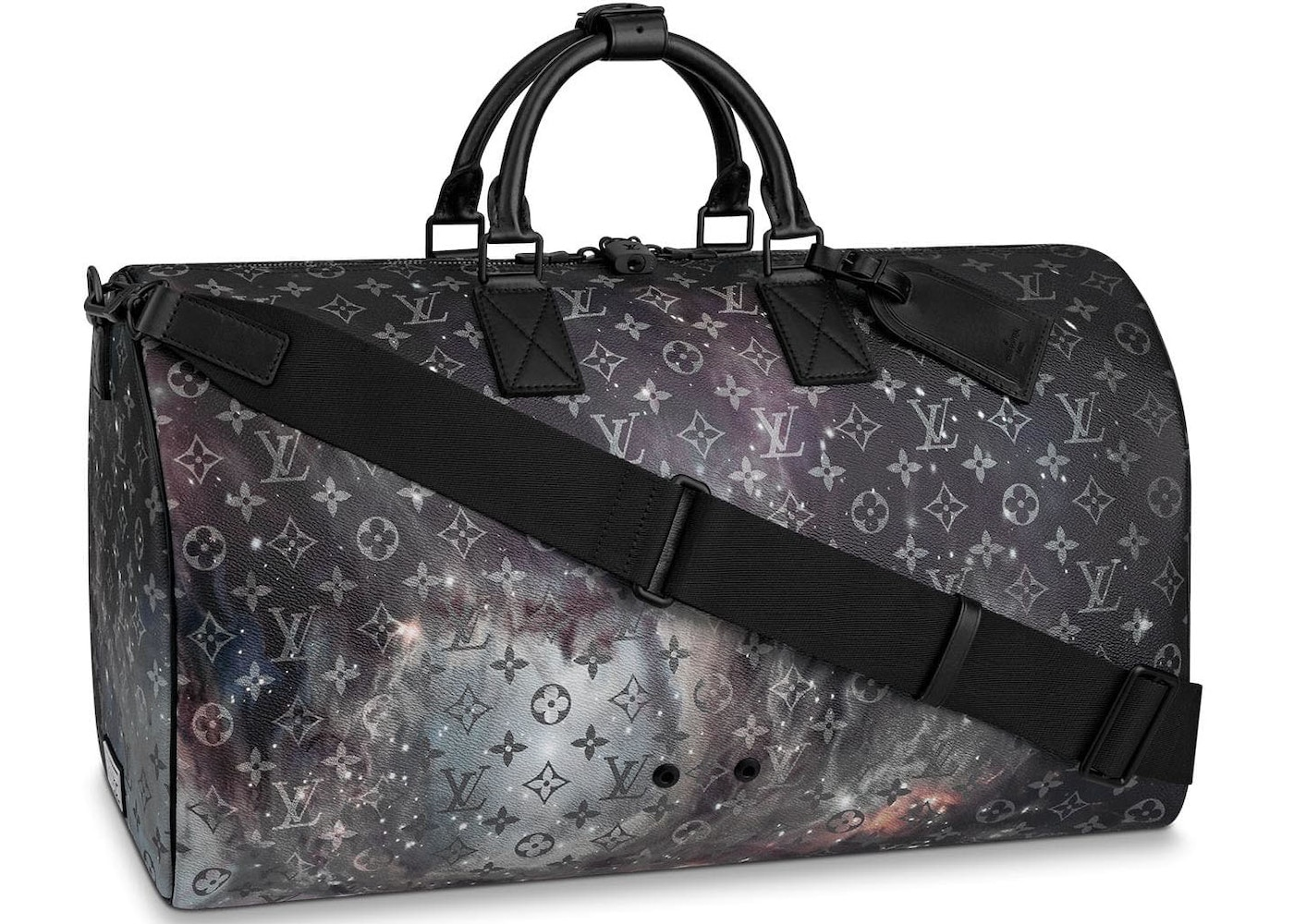 70f8b3a5c74 Louis Vuitton Keepall Bandouliere Monogram Galaxy 50 Black Multicolor