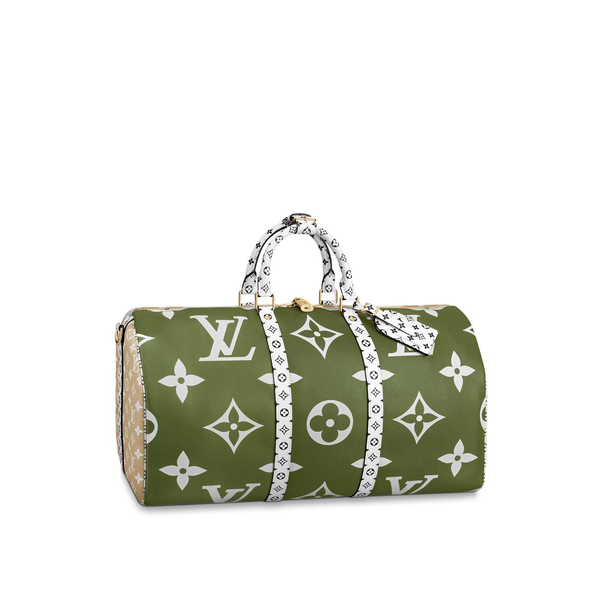 Louis Vuitton Keepall Bandouliere Monogram Giant 50 Khaki Green/Beige