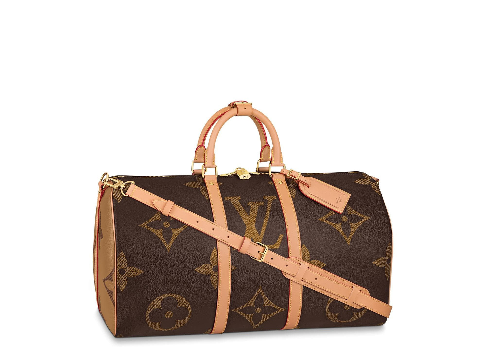 Louis Vuitton Keepall Bandouliere Monogram Giant Reverse 50 Brown