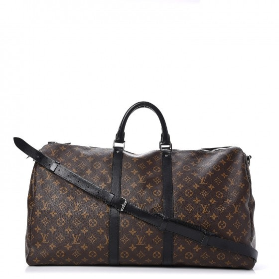 Louis Vuitton Keepall Bandouliere Monogram Macassar 55 Brown/Black