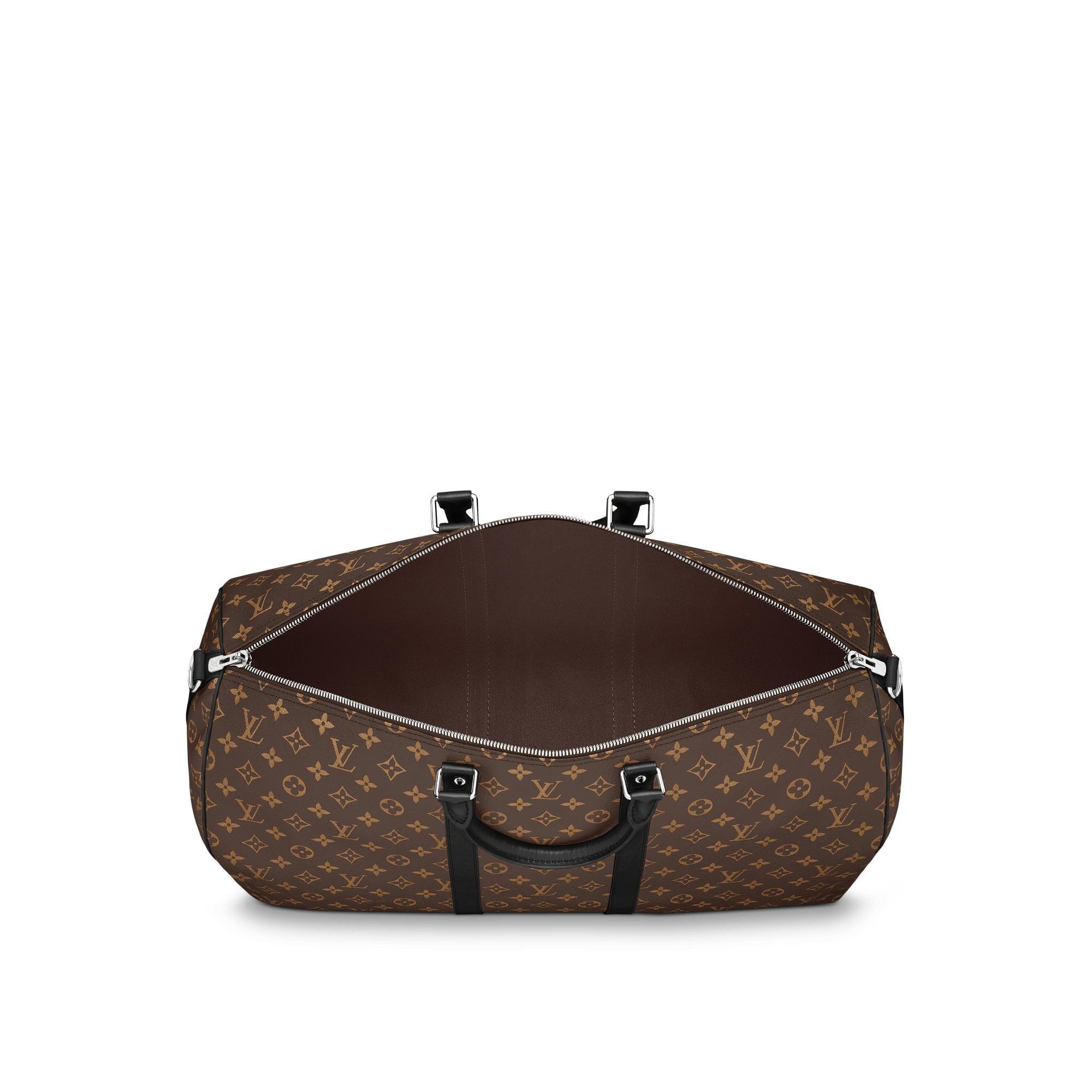 Louis Vuitton Keepall Bandouliere Monogram Macassar (With Accessories) 55 Brown/Black