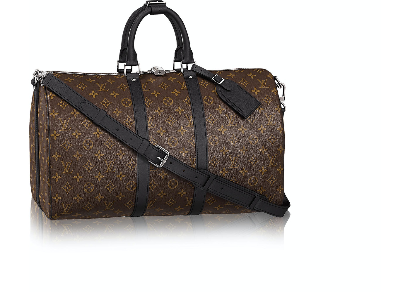 67876a02203b Louis Vuitton Keepall Bandouliere Monogram Macassar (With ...