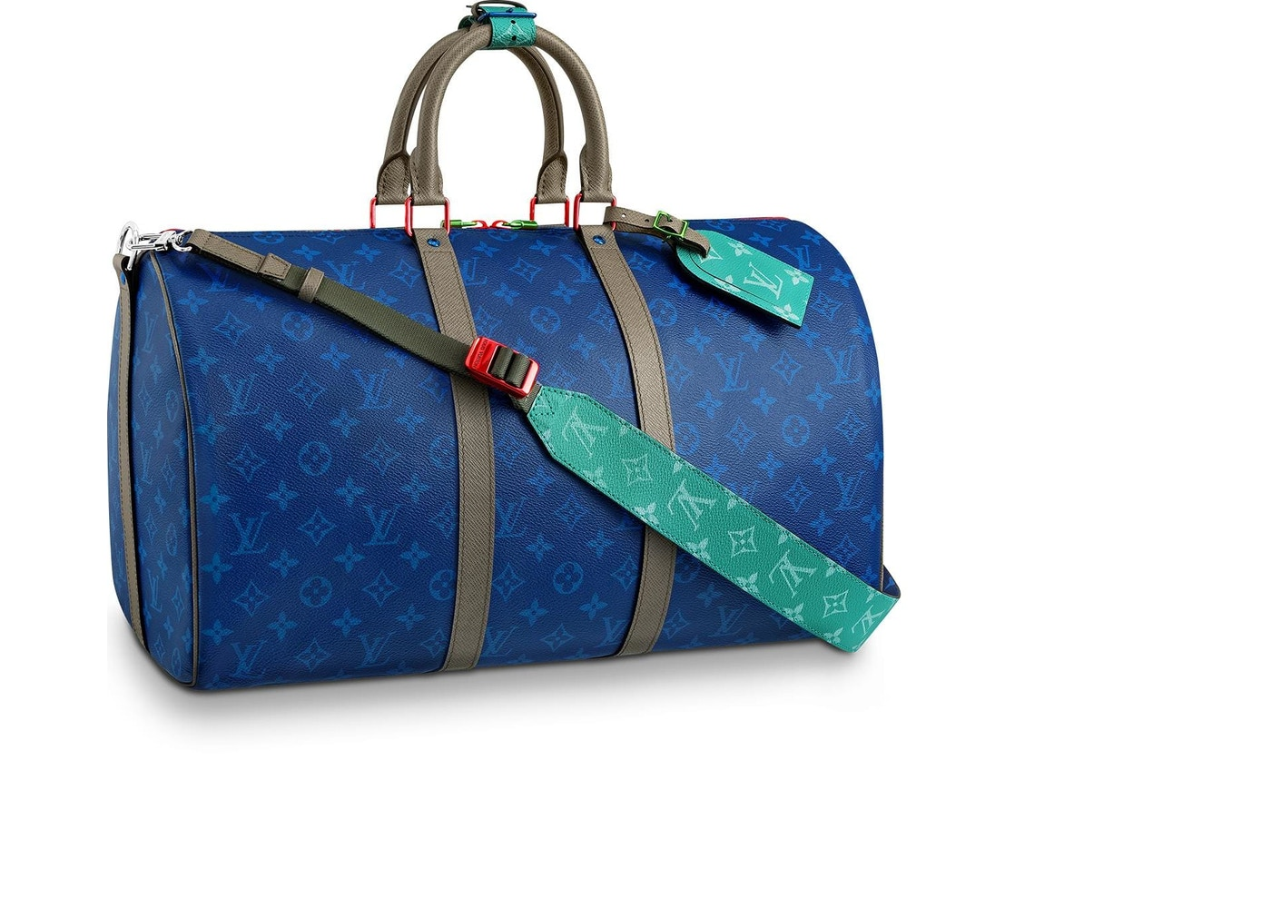 c81ca4f48746 Louis Vuitton Keepall Bandouliere Monogram Outdoor With Strap 45 Pacific  Blue. Monogram Outdoor With Strap 45 Pacific Blue