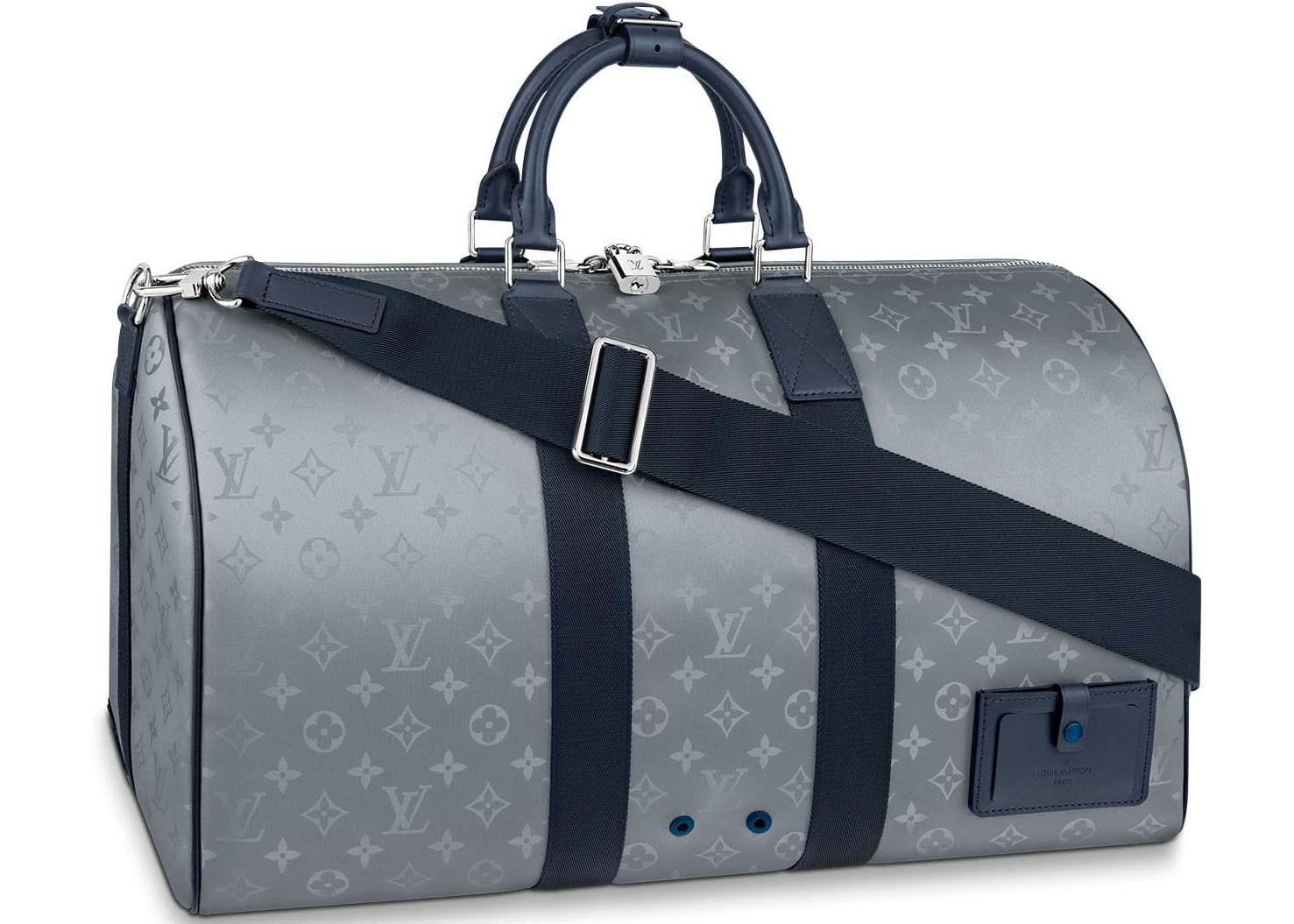 Louis Vuitton Keepall Bandouliere Monogram Satellite 50 Silver