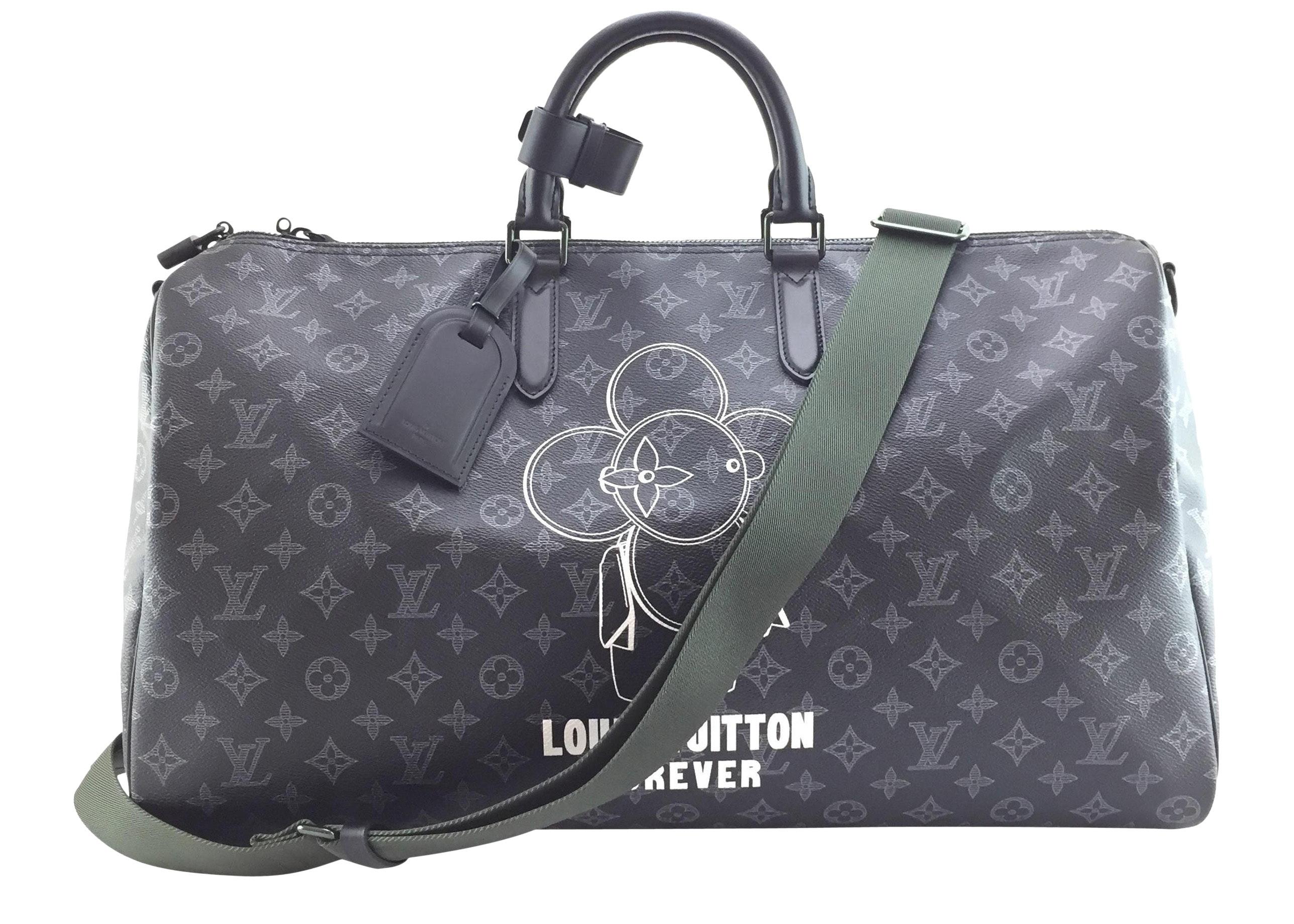Louis Vuitton Keepall Bandouliere Monogram Vivienne Logo 50 Black