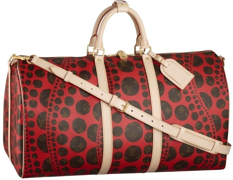Louis Vuitton Keepall Bandouliere Monogram Waves 55 Brown/Red