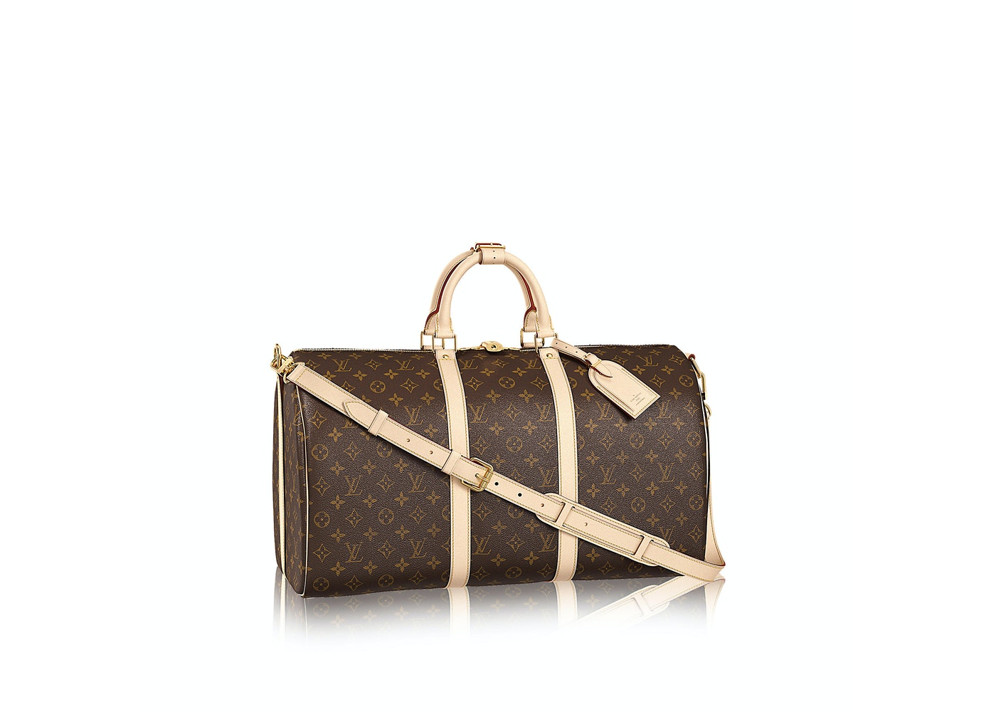 5bf98dac288 Louis Vuitton Keepall Bandouliere Monogram (With Accessories) 50 Brown