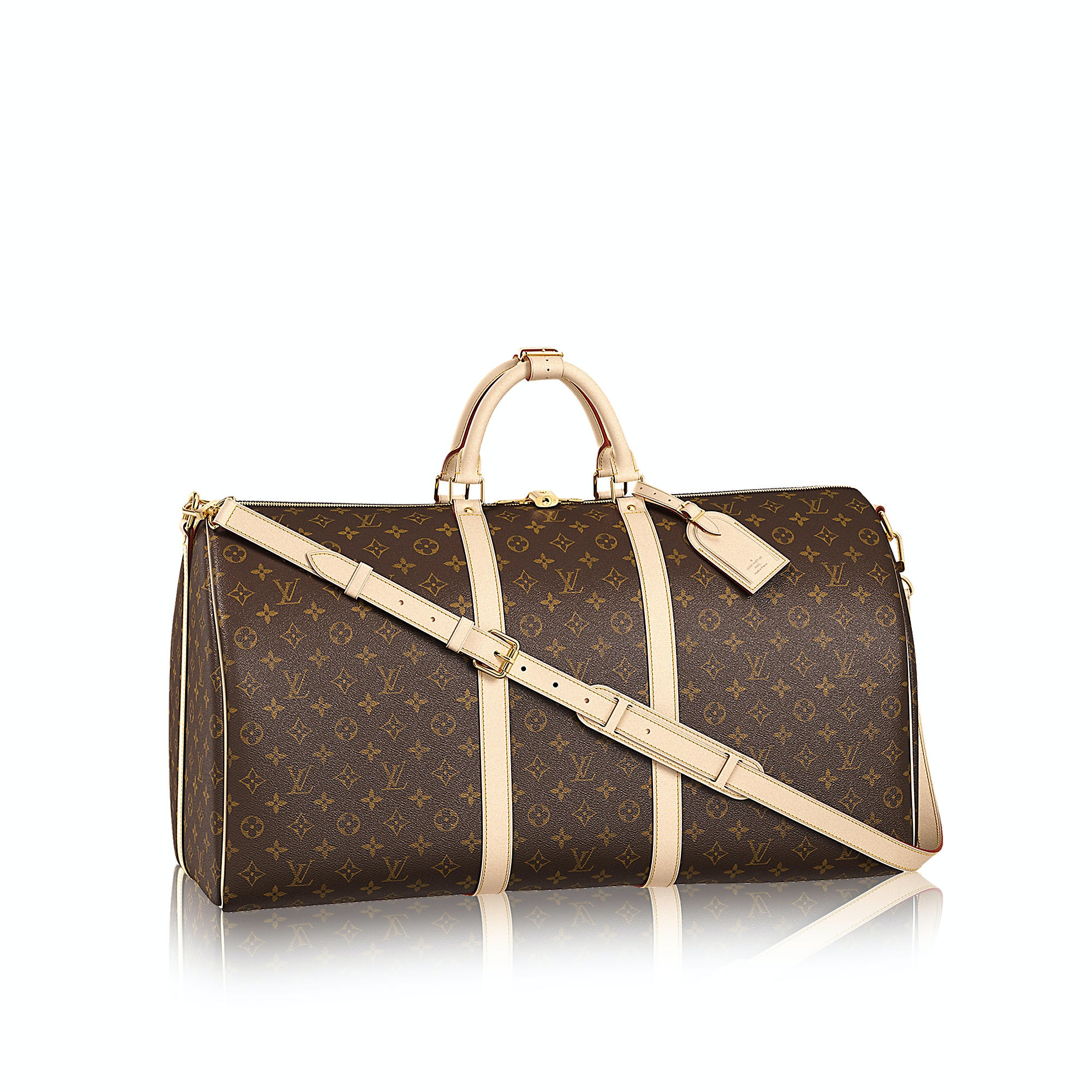 Louis Vuitton Keepall Bandouliere Monogram (With Accessories) 60 Brown