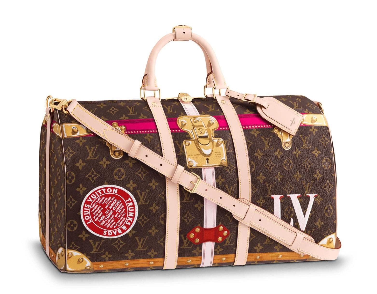 Louis Vuitton Keepall Bandouliere Monogram Summer Trunk Collection 50 Brown