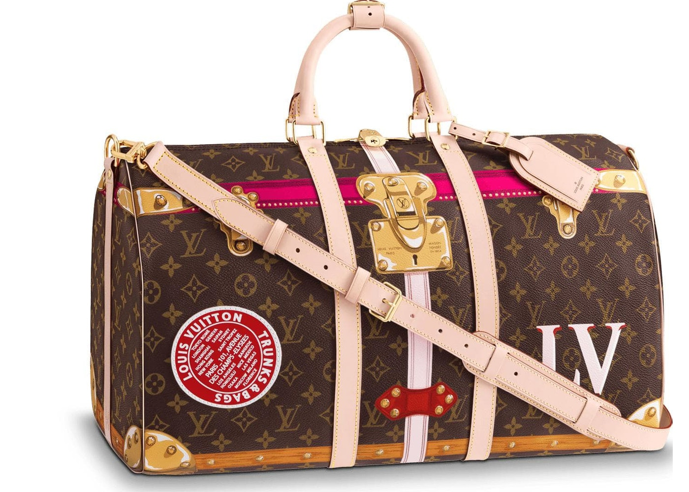 318533b2b884b Louis Vuitton Keepall Bandouliere Monogram Summer Trunk Collection 50 Brown.  Monogram Summer Trunk Collection 50 Brown