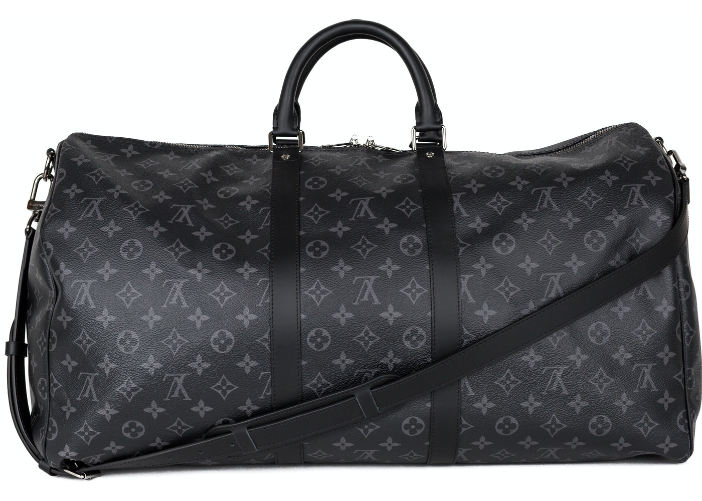 5dafefedd8a4 Louis Vuitton Keepall Bandouliere (Without Accessories) Monogram Eclipse 55  Gray. Monogram Eclipse 55 Gray