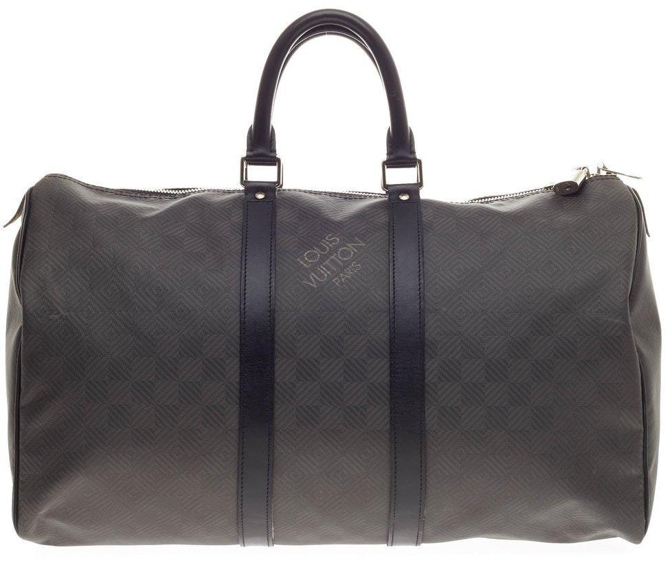 Louis Vuitton Keepall Damier Carbone 45 Black