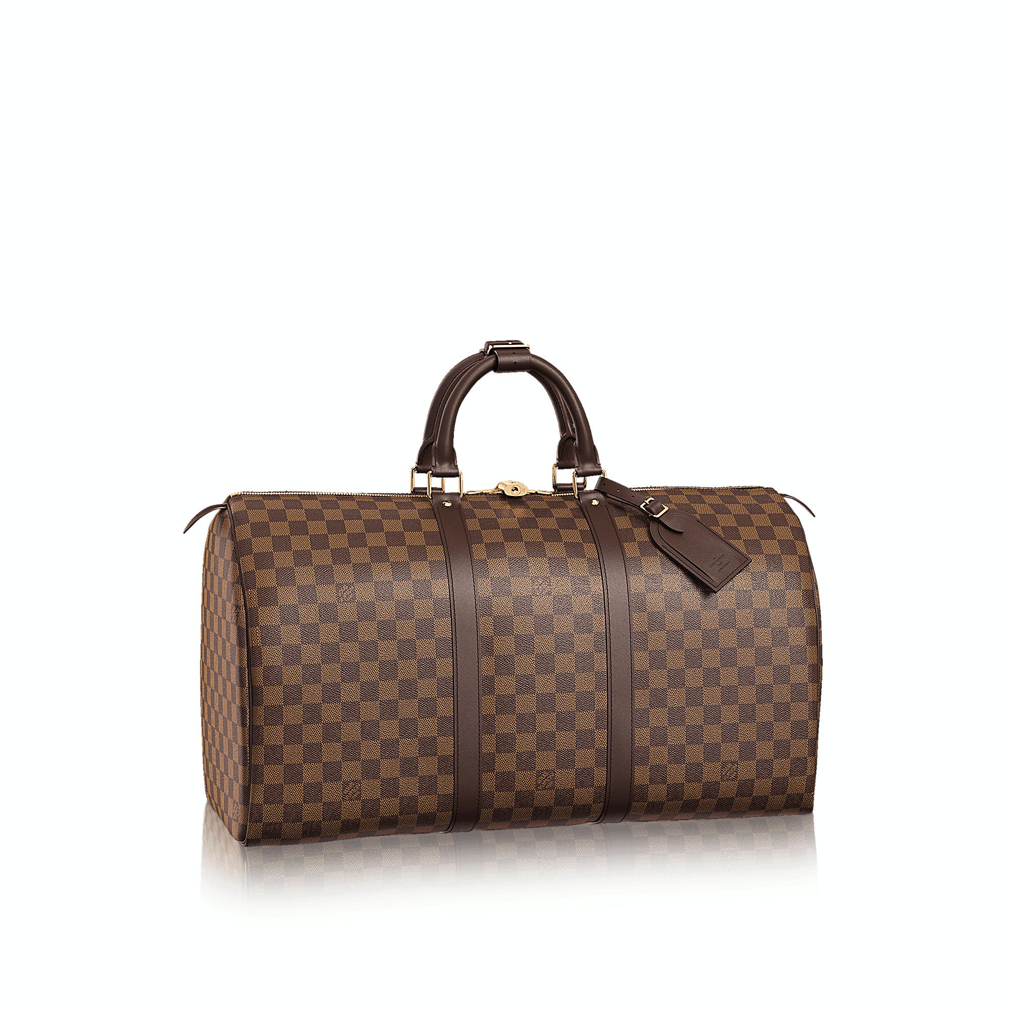 Louis Vuitton Keepall Damier Ebene (With Accessories) 50 Brown