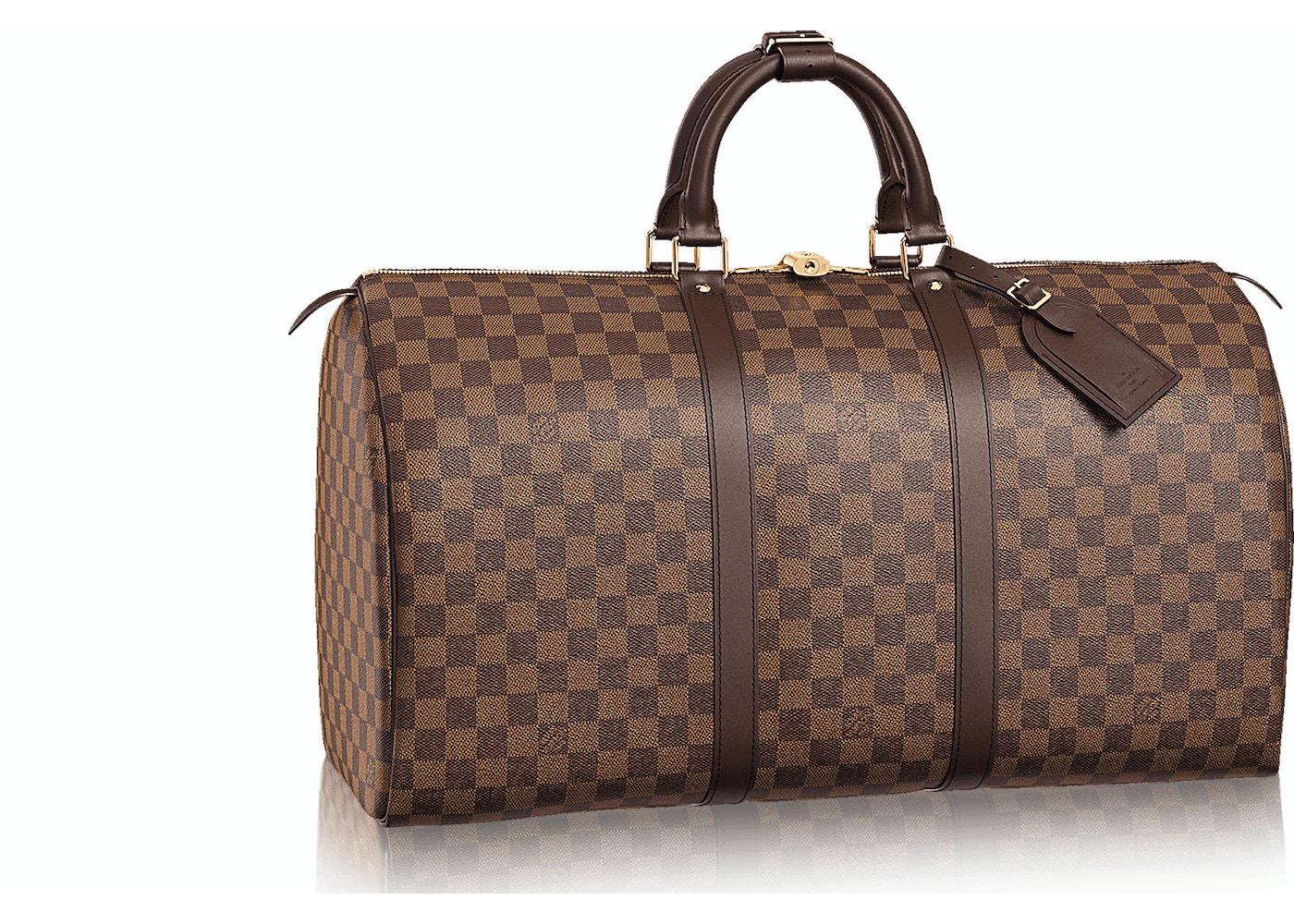 6da0ba4f9e5 Louis Vuitton Keepall Damier Ebene (With Accessories) 50 Brown