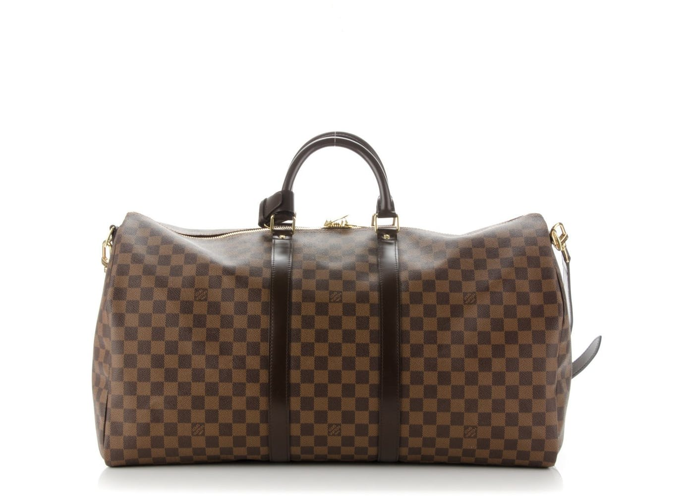 louis vuitton keepall bandouliere damier ebene 55 brown. Black Bedroom Furniture Sets. Home Design Ideas