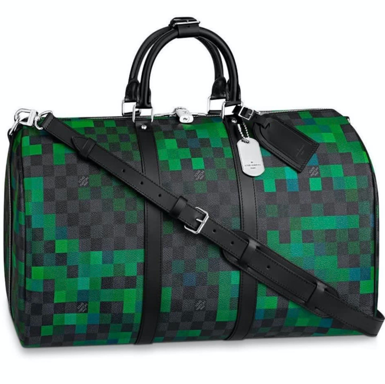 Louis Vuitton Keepall Damier Graphite Pixel Vert