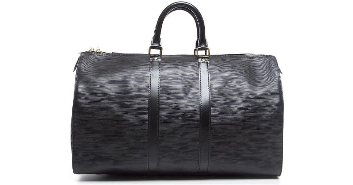 Louis Vuitton Keepall Epi 45 Black