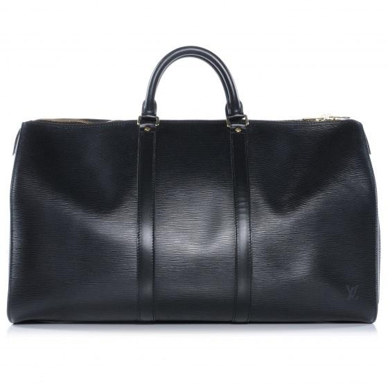 Louis Vuitton Keepall Epi 50 Black