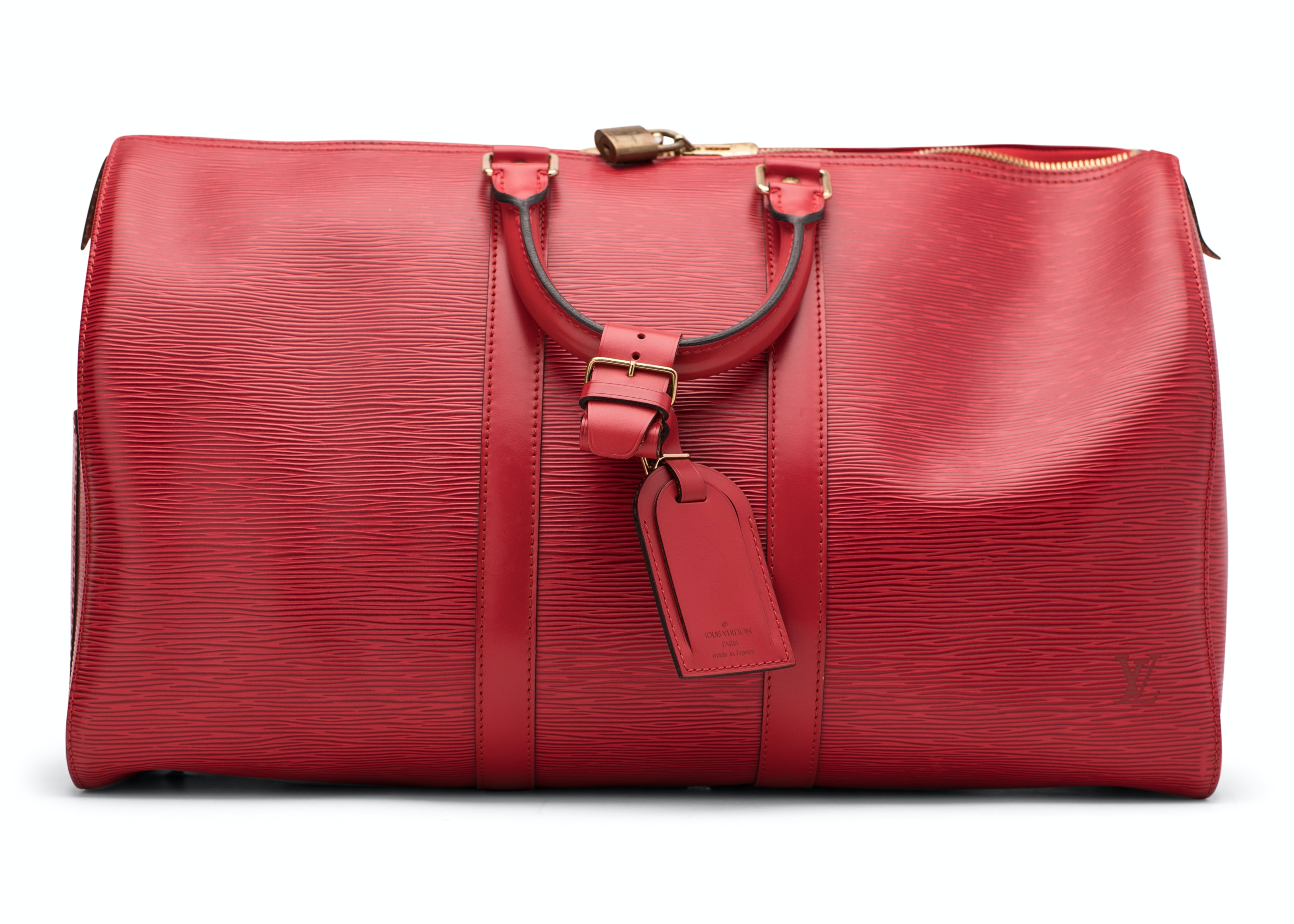 Louis Vuitton Keepall Epi 50 Red