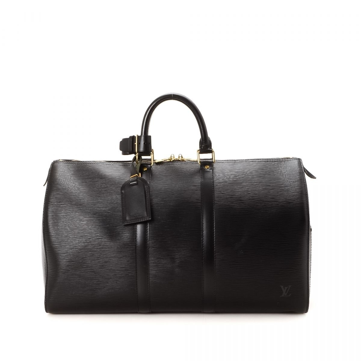 Louis Vuitton Keepall Epi (With Accessories) 45 Black