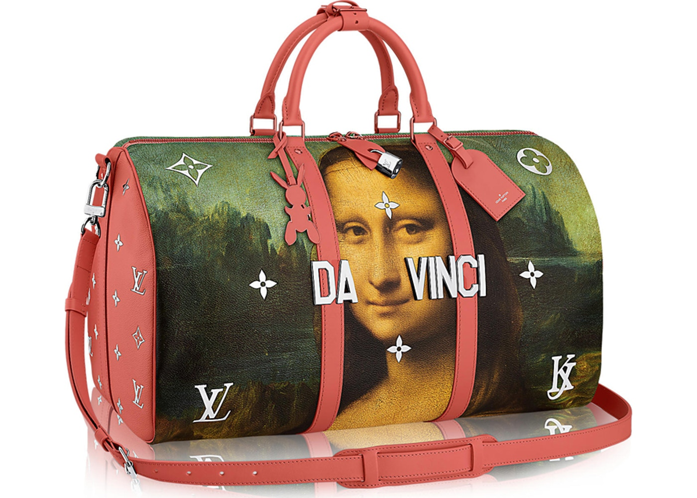 59ac5d9aea75 Louis Vuitton Keepall Leonardo da Vinci Masters Jeff Koons 50 Poppy ...
