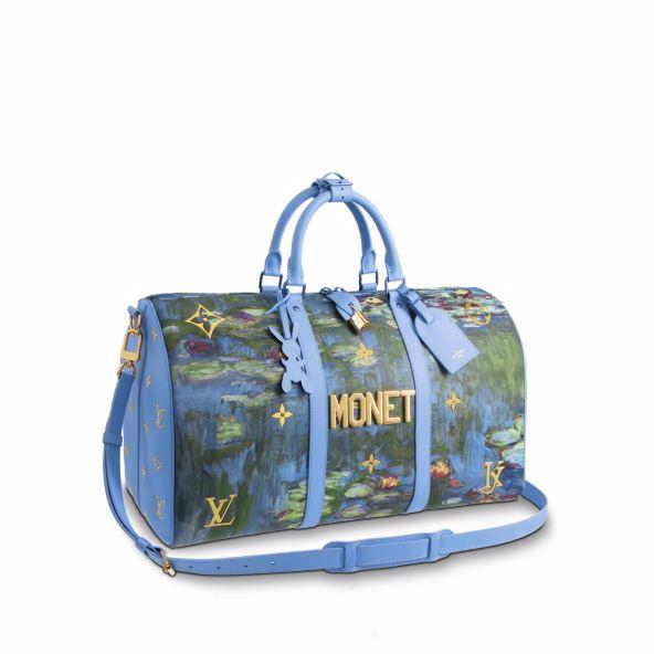 Louis Vuitton Keepall Monet Masters Jeff Koons 50 Periwinkle Multicolor