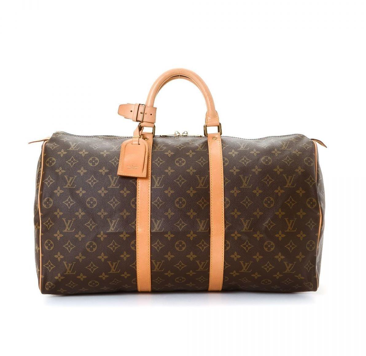 Louis Vuitton Keepall Monogram 50 Brown