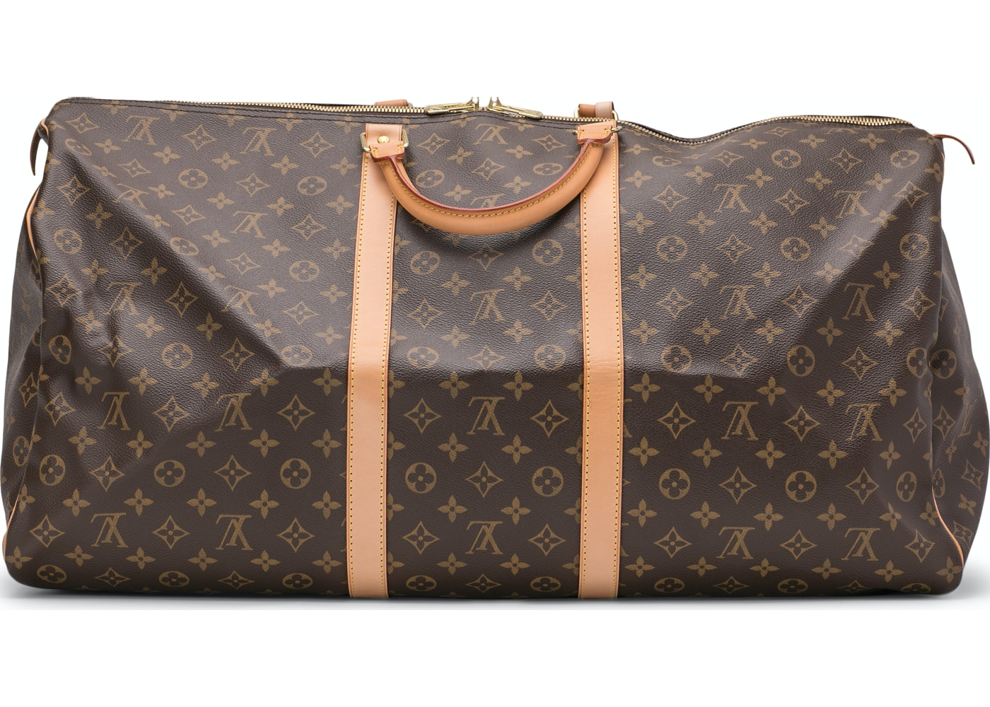 f2583cb91eb6 Louis Vuitton Keepall (With Accessories) Monogram 60 Brown