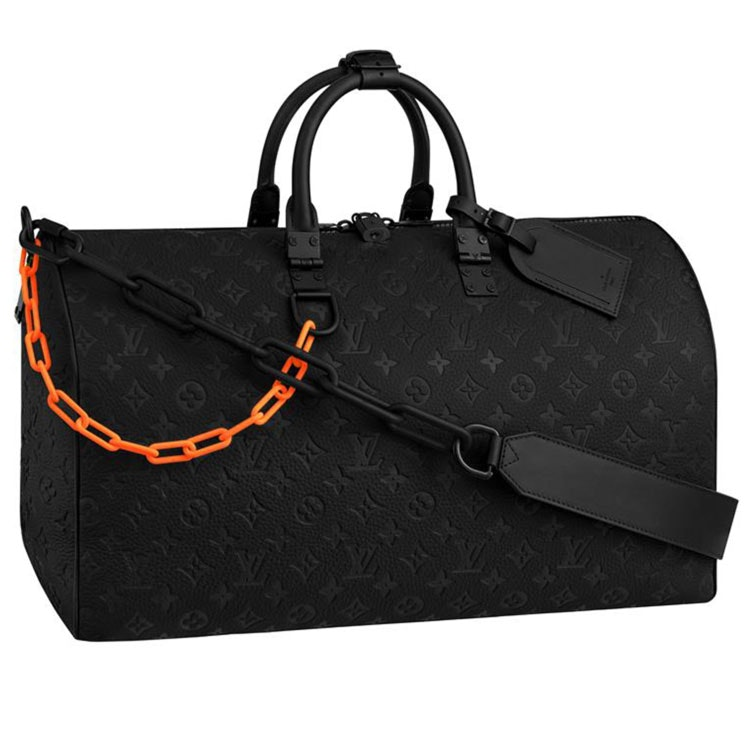 Louis Vuitton Keepall Monogram Bandouliere 50 Black