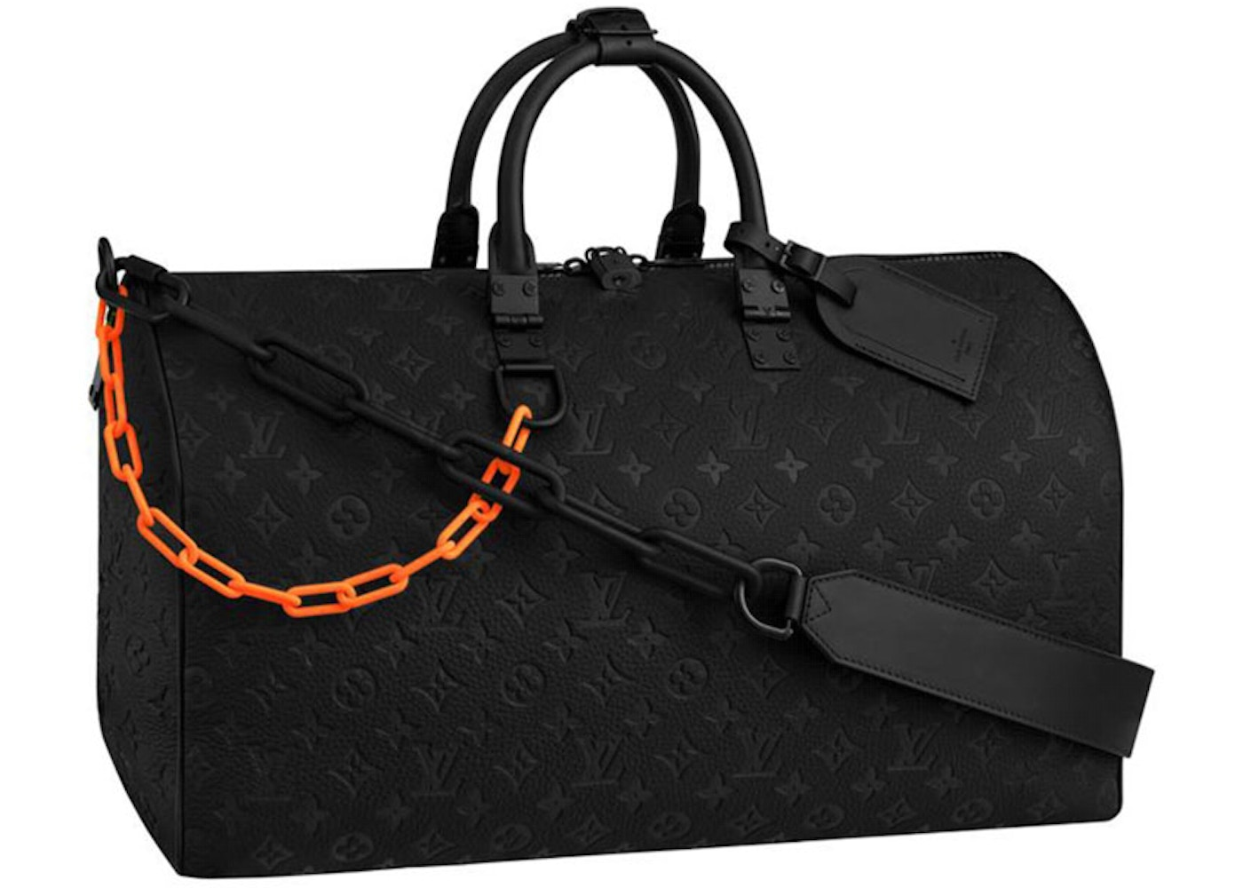 7ae866e2986 Louis Vuitton Keepall Monogram Bandouliere 50 Black