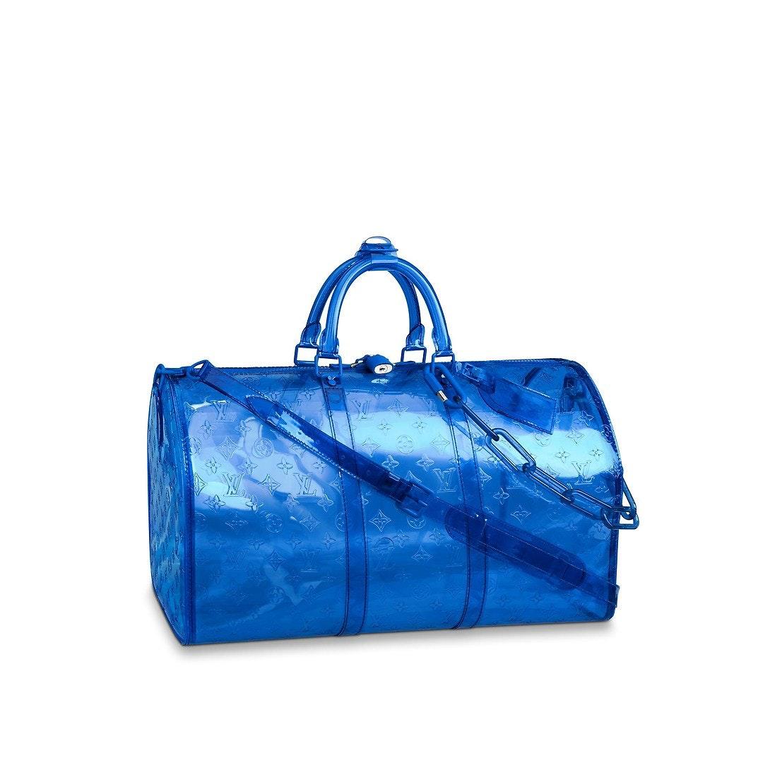 Louis Vuitton Keepall Monogram Bandouliere 50 Blue
