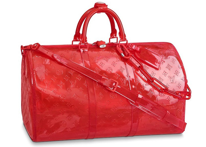 Louis Vuitton Keepall Monogram Bandouliere 50 Red