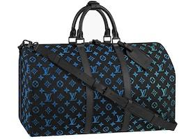 Louis Vuitton Keepall Monogram Fiber Optic 50 Black