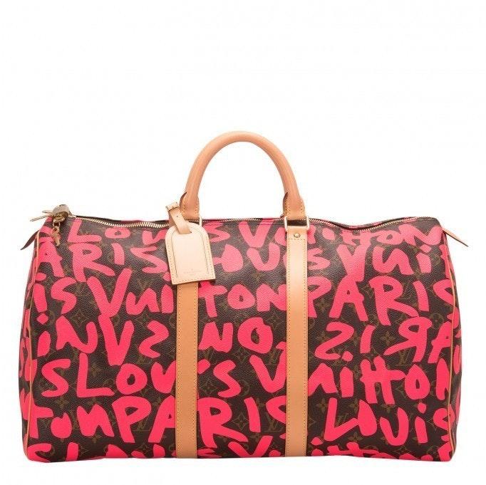 Louis Vuitton Keepall Stephen Sprouse Monogram Graffiti 50 Brown/Pink
