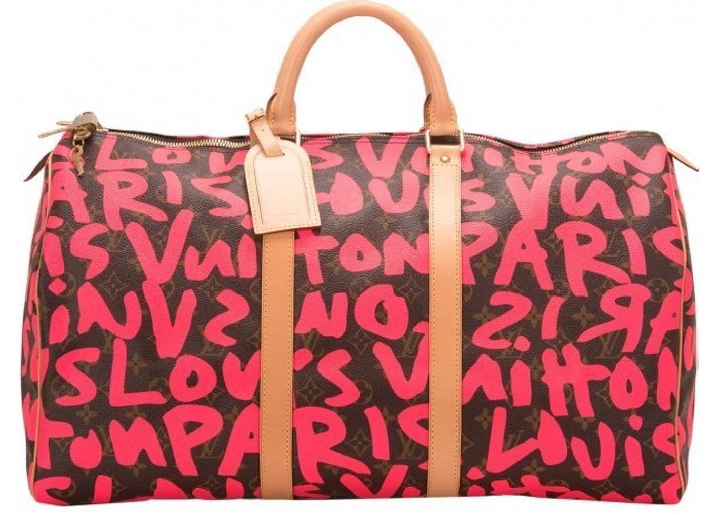 4c84d4b933238 Louis Vuitton Keepall Stephen Sprouse Monogram Graffiti 50 Brown ...