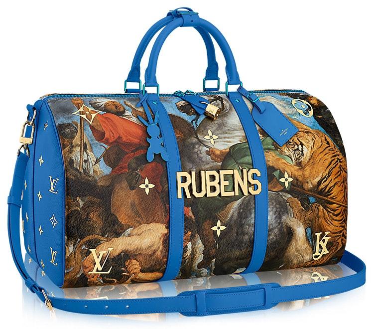 Louis Vuitton Keepall Peter Paul Rubens Masters Jeff Koons 50 Blue Multicolor