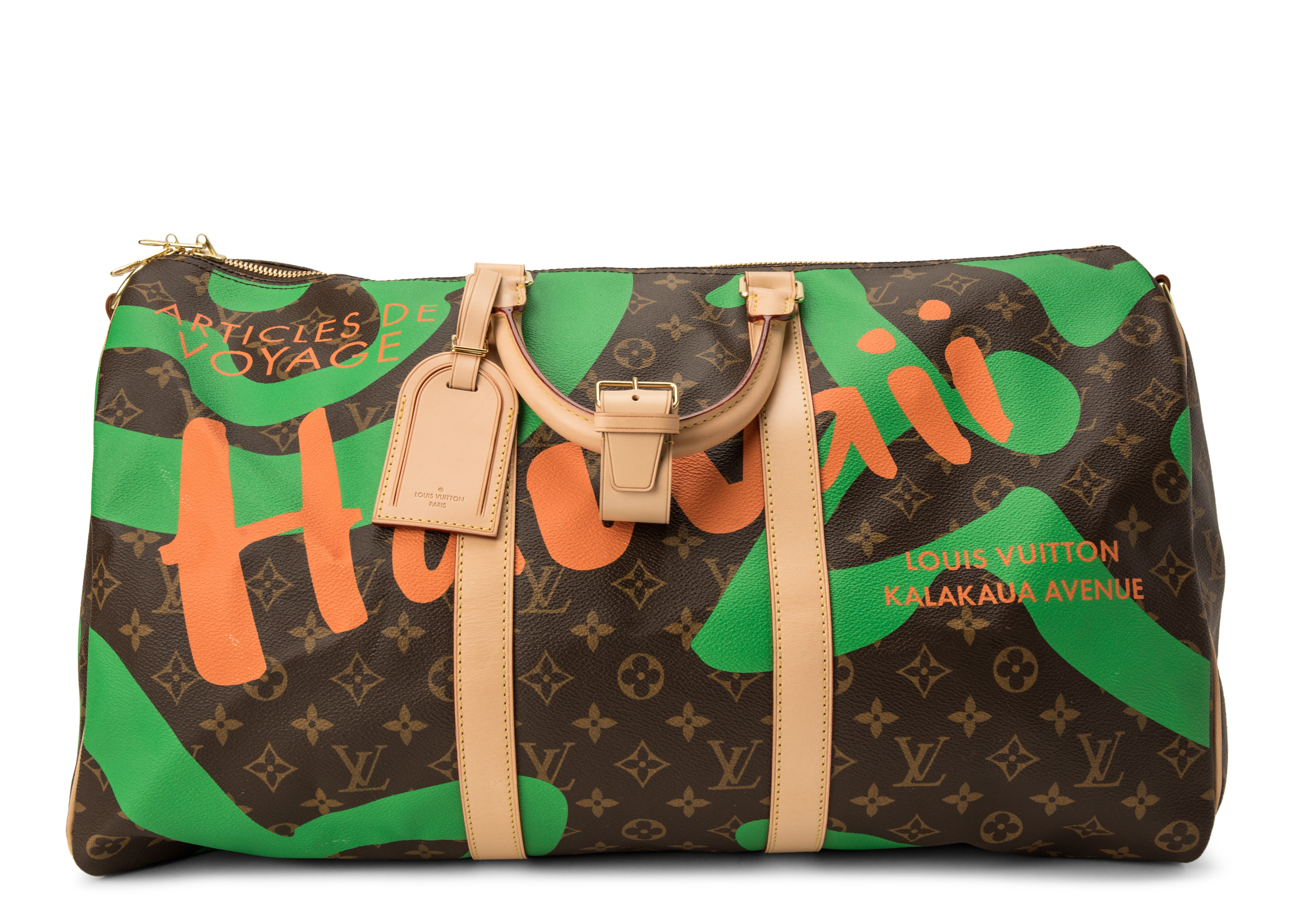 Louis Vuitton Keepall Bandouliere Tahitienne Hawaii Monogram 50 Brown/Green