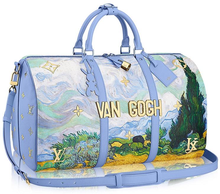 Louis Vuitton Keepall Van Gogh Masters Jeff Koons 50 Lavender Multicolor