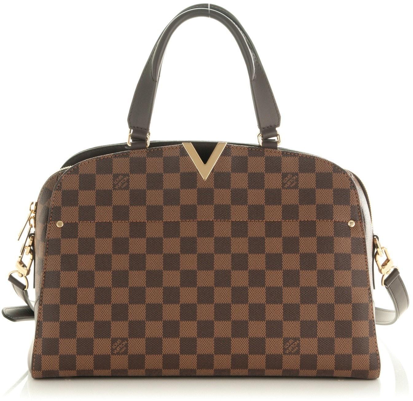 Louis Vuitton Kensington Bowling Bag Damier Ebene PM Brown