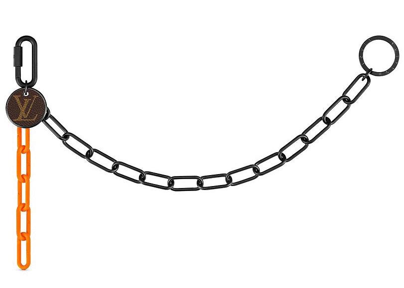 Louis Vuitton Key Chain Black/Orange