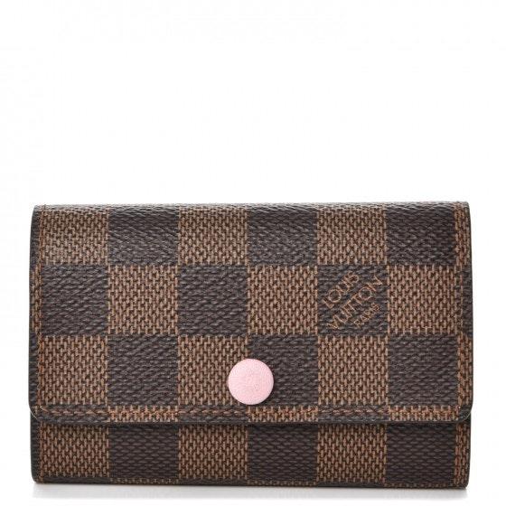 Louis Vuitton Key Holder Multicles 6 Damier Ebene Rose Ballerine