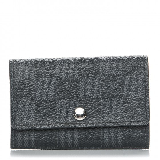 Louis Vuitton Key Holder Multicles 6 Damier Graphite Black