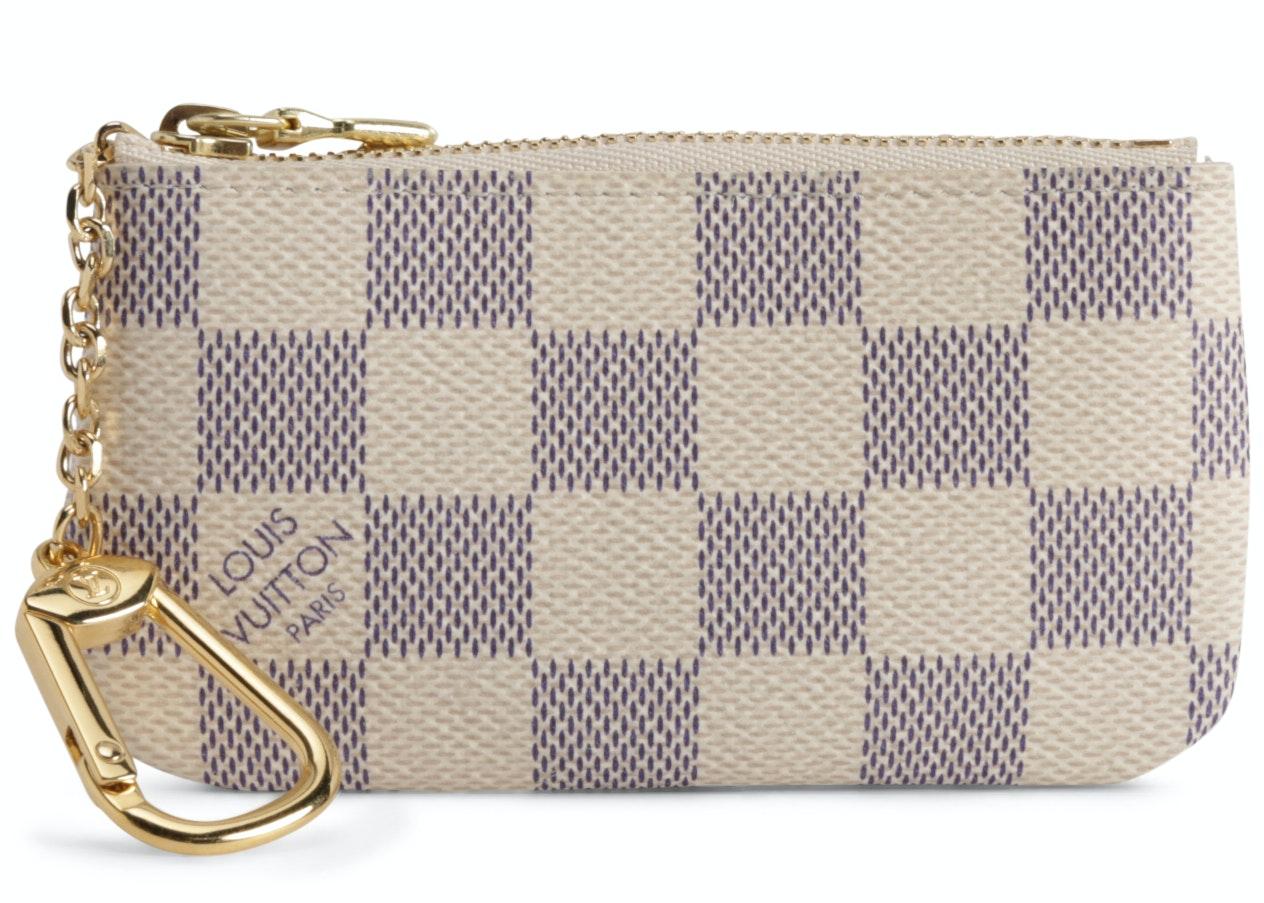 Louis Vuitton Key Pouch Damier Azur White/Blue